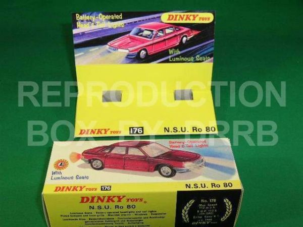 Dinky #176 N. S. U. Ro 80 - Reproduction Box